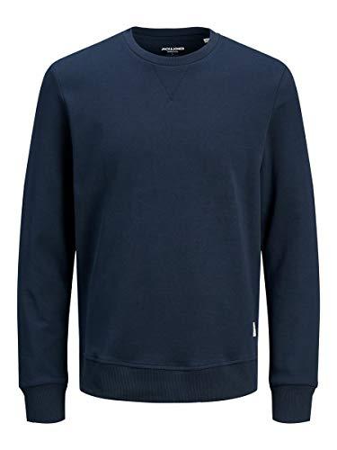 JACK & JONES Herren Jjebasic Crew Neck Noos Sweatshirt, Navy Blazer, L EU