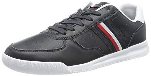 Tommy Hilfiger Herren Lightweight Leather Flag Leichte Leder-Sneaker-Flagge, Wüstenhimmel, 42 EU