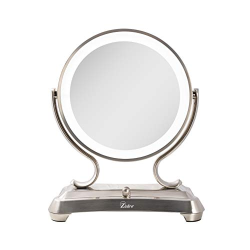 Zadro Surround Light Dual Sided Glamour 5x/1x Magnification Vanity Beauty Makeup Mirror -