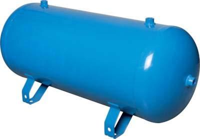 Fittingteile Druckluftbehälter mit Füßen bis 11 bar Blau lackiert - Stahl verzinkt (Ausführung: Blau lackiert - Inhalt: 5,0 Liter)