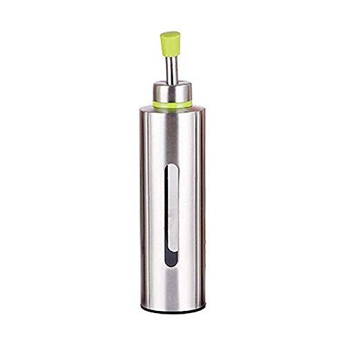 250 ml Edelstahl Ölflasche Ölflasche Ölbehälter Silber Salat Dressing Flasche Haltbare Ölkanne Küche Outdoor Grill 5 * 21CM Triangle