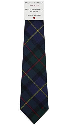 I Luv Ltd Cravate en Laine pour Homme Tissée et Fabriquée en Ecosse à MacLeod of Harris Modern Tartan