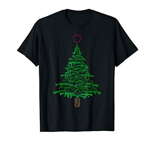 Guns Christmas Tree - Xmas Gift For Guns Lover T-Shirt