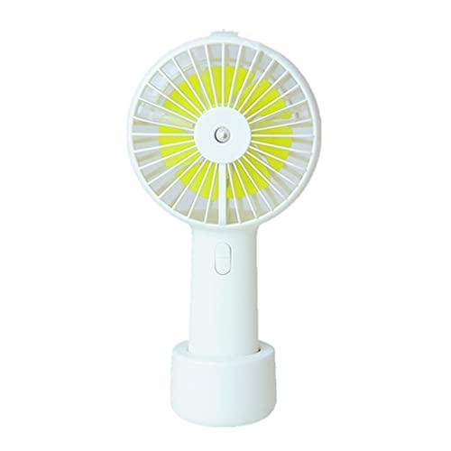 terg Spray refrigeración Pequeño Ventilador de Mano Mini acondicionador de Aire refrigerado por Agua Humidificación portátil Humidificador de Aire frío Recargable Desktop de refrigeración Base