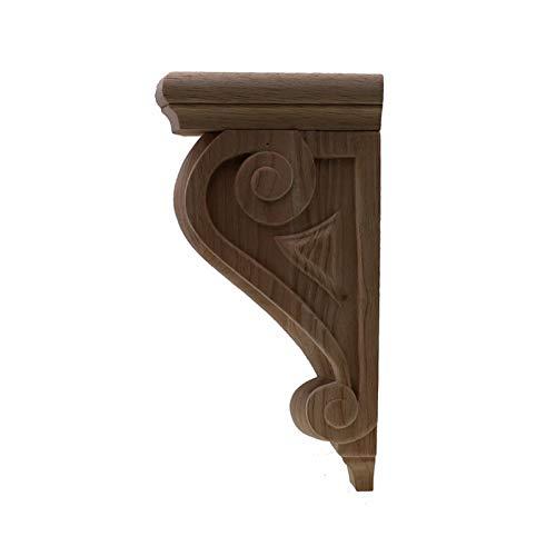 DUO ER Europäischen Stil Holzschnitzel Aufkleber Hausmöbel Geschnitzte Applique Fenster Tür Dekor Holzfiguren Handwerk Wand (Farbe : 33cmX17.5cmX11cm)