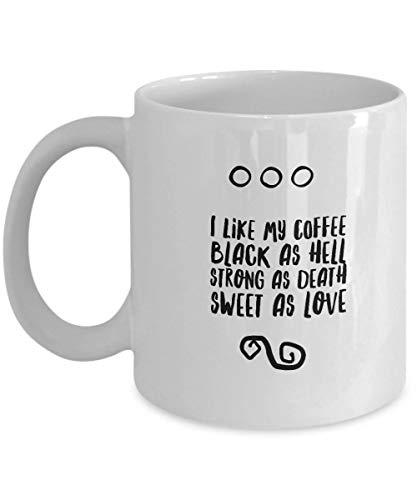 Taza de té o café con mensaje