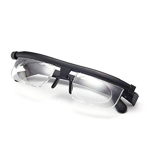 GTJXEY Fokus Einstellbare Brille, Lesebrille Brillen Brillen -6D to + 3D Dioptrien Kurzsichtigkeit Vergrößerungs Lesebrille Variabler Stärke Für Männer Und Frauen