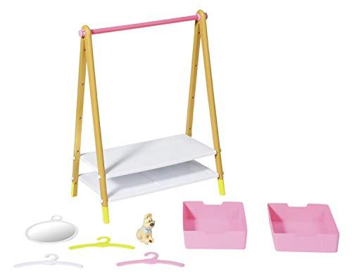 Zapf Creation 830000 BABY born Kleiderstange - Puppenkleider-Ständer mit Holz-Optik und Zubehör
