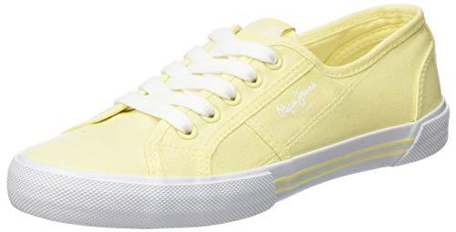Pepe Jeans London Damen ABERLADY ECO Sneaker, Gelb (Sunrise 013), 39 EU
