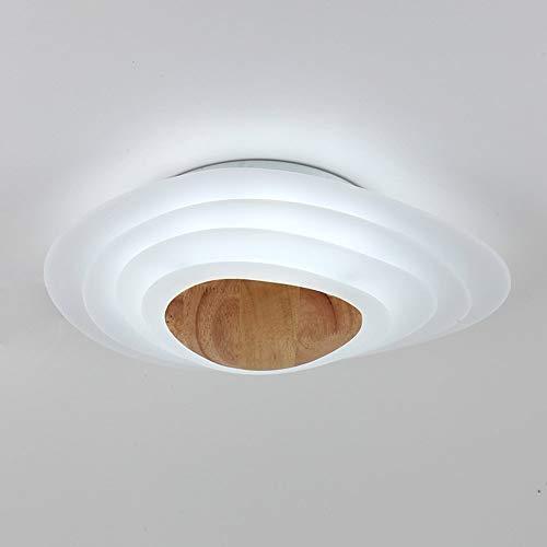 Plafonnier Post-Moderne Saturn LED Creative Planet Plafonnier en Bois Plafonnier Eacute;leacute;Gant et Minimaliste de Chambre Agrave; Coucher, D45cm H12cm 18W (Color : Lumiegrave;re Blanche)