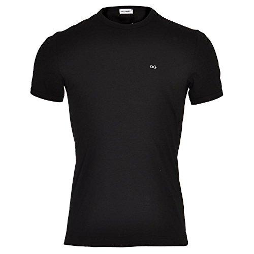 Camiseta de hombre Dolce & Gabbana de algodón de cuello redondo Art. N8C80J-FUGIA Col. y med. a elegir Negro S