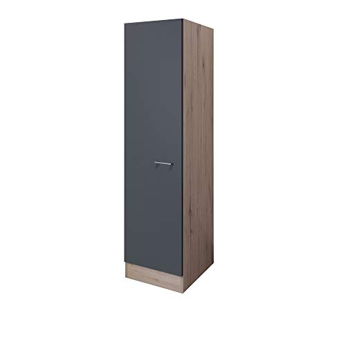 MMR Küchen-Hochschrank LIVERPOOL - Küchenschrank - 1-türig - 50 cm breit - Basaltgrau Matt