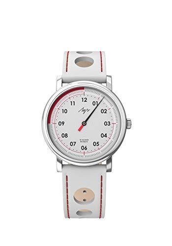 Reloj de pulsera con mecanismo mecánico 1801.1H de una sola mano, esfera blanca 71951778
