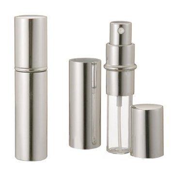 BOOLAVARD ARGENT bouteille de parfum 5ml en aluminium unisexe Voyage Vaporisateur pompe à main réutilisable anodisé Parfum Compact verre atomiseur de parfum parfum-bouteille