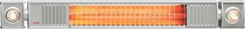 AEG Infrarot-Heizstrahler IR Premium Plus 2000 W mit Halogenspots, hocheffiziente Qualitäts-Goldröhre, nicht-rostend für Terrasse, Garten, Balkon, Gastronomie, 229948