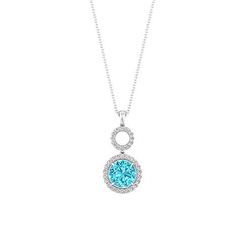 Rosec Jewels 18 quilates oro blanco round-brilliant-shape H-I Diamond