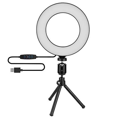 Selfie Ringlicht Mit Stativ LED Ring Licht Ringleuchte für Make-up Live-Streaming Vlog und Fotografie Dimmbar 3 Leuchtmodi und 10 Helligkeiten