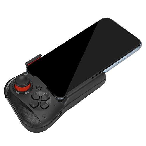 Gamepad, Controlador de Juego inalámbrico portátil con una Sola Mano Bluetooth Gamepad Joystick para Android/iOS Smartphone.(Negro)