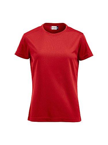 Damen Funktions T-Shirt aus Polyester von CLIQUE. Das T-Shirt für den Sport, perforiert und feuchtigkeitsabführend von notrash2003 (Rot, L)