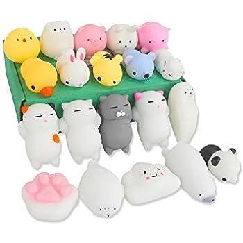 OneHorse 20個セット スクイーズ おもちゃ もちもち ストレス解消 癒し 動物 手の平サイズ