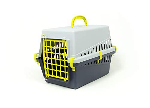 CapitanCasa Transportbox für Tiere mit Griff, Modell Otto Gelb