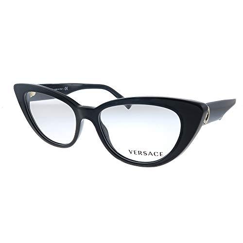 Versace VE 3286 GB1 - Gafas de sol (plástico, 52 mm), color negro