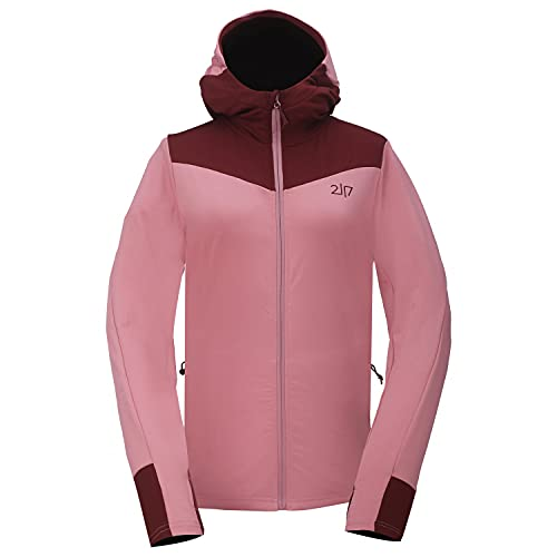 2117 of Sweden Damen Women's Jacket Sikvik with Hood Fleecejacke Rosa/Rot M