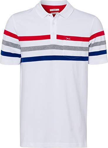 BRAX Herren Poloshirt Paco HI FLEX POLO Streifen Weiß (White 99), Herstellergröße: XX-Large