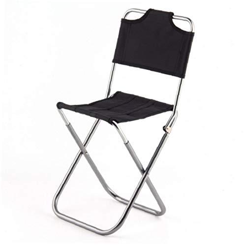 Tragbares Klapphocker Outdoor Angeln Stuhl Leichte Camp Aluminium Hocker Sitz Für Camping Picknick Reise Schwarz Angelzubehör