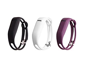I-SMILE 3PCS Replacement Bands with Metal Clasps for Fitbit Flex Set of 3 with 2 Piece Silicon Fastener Ring 5 Large