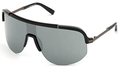 DSQUARED2 zonnebril DQ 0345S kleur 10C zwart masker spiegel