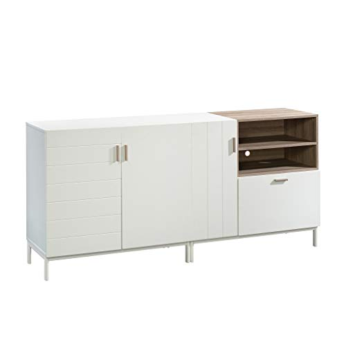 Sauder Anda Norr Credenza, for TVs up to 60', White Finish