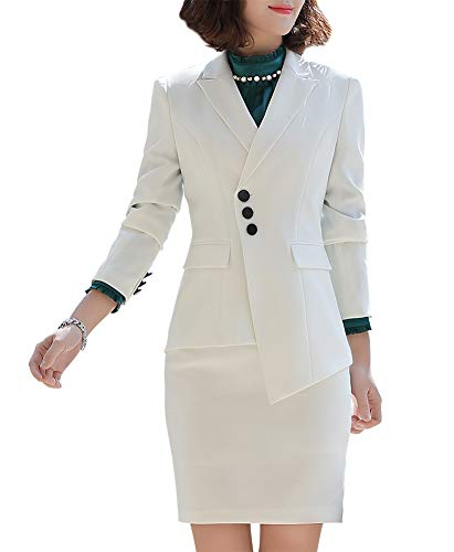 Vrouwen Two Pieces Office Lady Blazer Set Formal Business Pant Suit Blazer Jacket, Pant/Skirt