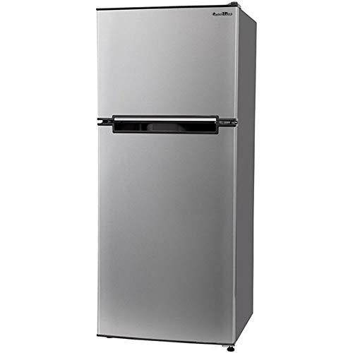 Grand-Line 冷蔵庫 118L 2ドア 冷凍冷蔵庫 シルバー AR-118L02SL