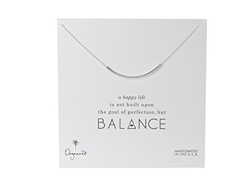 Dogeared Balance Tube Necklace Sterling Silver One Size