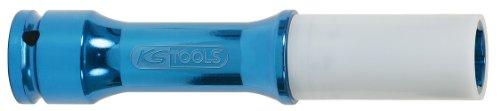 KS Tools 515.2040 Llaves de vaso especial para ruedas, extra largas (150 mm) para llantas de aluminio (entrecaras 17 mm, 1/2'), 17mm