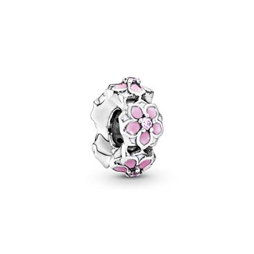 Pandora Moments rosafarbene Magnolienblüte Zwischenelement Sterling Silber 792088PCZ