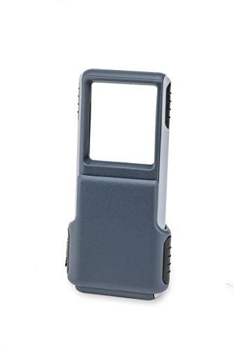 Carson MiniBrite 3x Taschenlupe mit integriertem LED-Licht und Schiebeschutzhülle