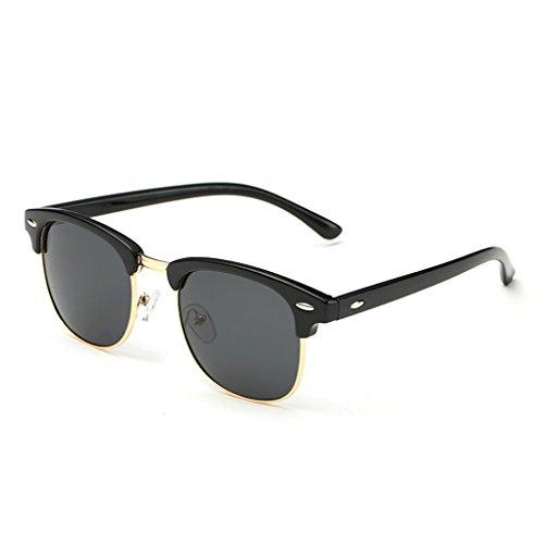 QHGstore Protección UV Hombres Mujeres Deportes Gafas de sol polarizadas Gafas de sol Mate Negro / Negro