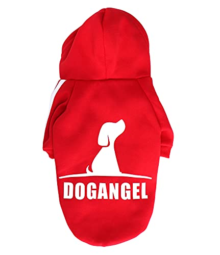 QiCheng&LYS Hundemantel Hund Hoodies Kleidung, Pet Puppy Katze Niedlicher Baumwoll Warm Hoodies Coat Pullover (S, Neu rot)
