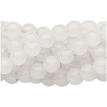 Strand 64+ White Snow Quartz 6mm Plain Round Beads FM1091 (Charming Beads)