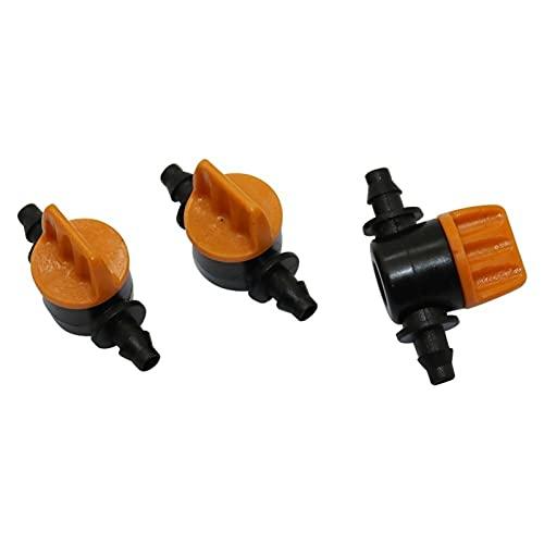 Multifunción 100pcs 4 / 7mm Válvulas en miniatura Conectores de la manguera de la manguera de la manguera HomeBrew Jardín Interruptor del interruptor de irrigación del acoplamiento de la manguera ranu