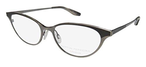 Barton Perreira Songbird Womens/Ladies Cat Eye Full-rim Titanium Eyes Eyeglasses/Glasses (49-16-145, Pewter)