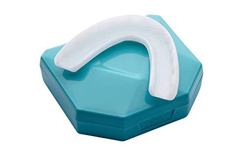 2 x Fèrula Dental Profesional Placa de Descarga Nocturna Protector Bucal para dormir anti Bruxismo Rechinar los dientes e los Trastornos del ATM