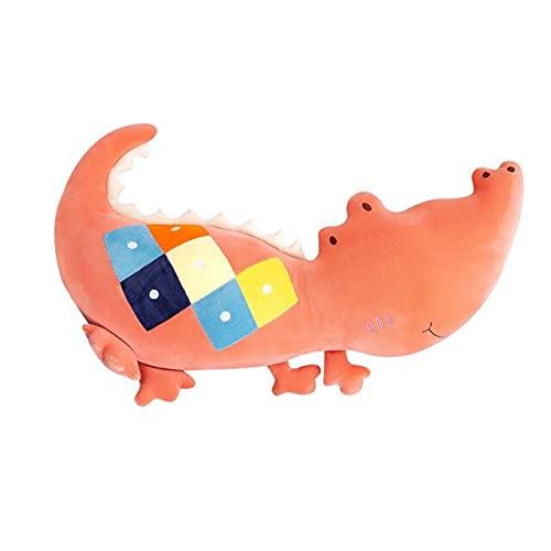 YMQKX 50-70-90cm Almohada Creativa de cocodrilo de Peluche para el hogar Regalo para niños Juguete de Peluche Divertido muñecas de cocodrilo para Regalos 50cm Naranja