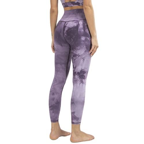 QTJY Medias de Levantamiento de Cadera de Color melocotón teñido a la Moda, Pantalones de Yoga de Abdomen con Levantamiento de Cadera de Cintura Alta Desnudos, Pantalones de chándal elásticos AS