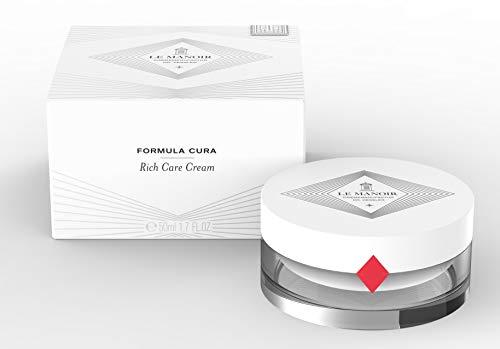 Rich Care Cream - Reichhaltige Pflege für trockene und fettarme Haut - Einzigartige Zusammensetzung - Apothekenqualität - Avocadoöl - Sheabutter - Reine Hyaluronsäure - hypoallergen -50ml-Le Manoir