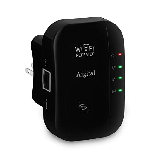Wifi Range Extender 300Mbps Wireless Repeater Super Signal Booster 2.4GHz Amplifier With Repeater/Access Point Mode | One-Button Setup | WPS Button | Built-in Antenna | LAN Port Comply with Any Router