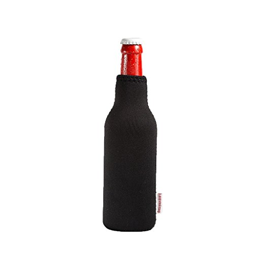 Rafraîchisseur de bouteille en néoprène, Seau à Vin, Rafraîchisseur de boissons, Dress-your-drink 0.3 Liter noir