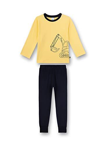 Sanetta Jungen Pyjama lang Zweiteiliger Schlafanzug, Gelb (gelb 2256), 98 (Herstellergröße:098)